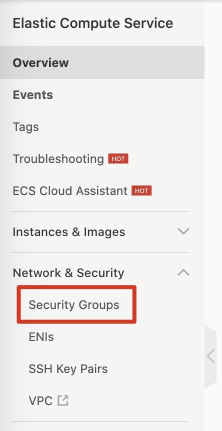 Create Security Group